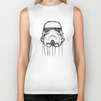 storm trooper Biker Tanks featuring storm trooper by ErDavid