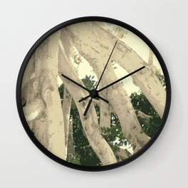 TWIGGY PICKING UP LEAVES LOL Wall Clock