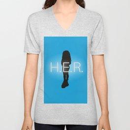 H.E.R. Music Singer Best Part Album Merch Unisex V-Neck