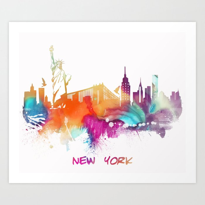 New York City Skyline #nyc #newyorkcity Art Print