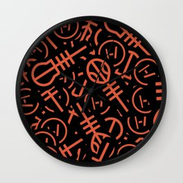 TØP Stickers - Original Logo Red Wall Clock