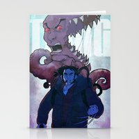 xmen Stationery Cards featuring Xmen vs The Thing by ashurcollective