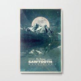 Sawtooths: Stanley Lake Metal Print