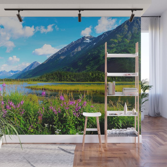 Gods Country Summer in Alaska Wall Mural by alaskanmommabear