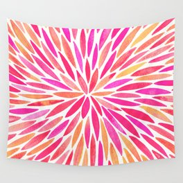 Watercolor Burst – Pink Ombré Wall Tapestry
