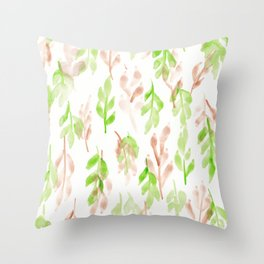 180726 Abstract Leaves Botanical 26 |Botanical Illustrations Throw Pillow