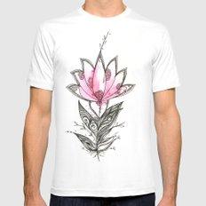 Lotus White MEDIUM Mens Fitted Tee