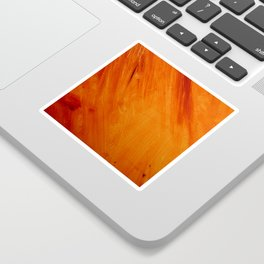 Orange and Red Abstract Acrylic Painting Sticker