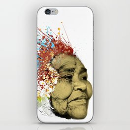 """Gabriela"" of the Kaweskar People - Color iPhone Skin"