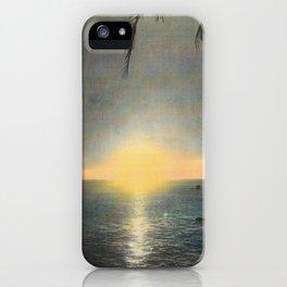 Sun Setting on Waikiki Beach Hawaii iPhone Case