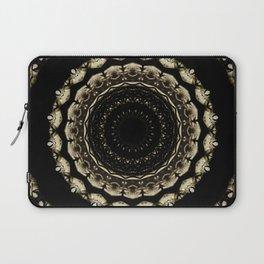 Mandala Design Black Laptop Sleeve