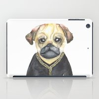 gangster iPad Cases featuring Dog Gangster by Lucie Sperry
