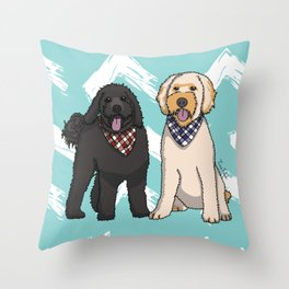 Ramble and Winter Throw Pillow