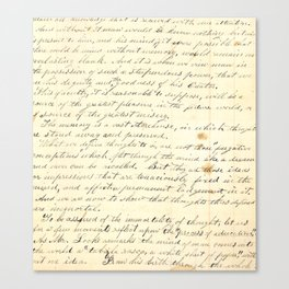 Vintage Writing Canvas Print