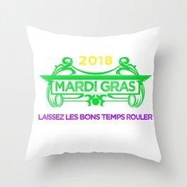 Mardi Gras Let the Good Times Roll ( Laissez les bons temps rouler) Throw Pillow
