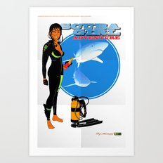 Scuba Girl - Adventure Poster Edition Art Print