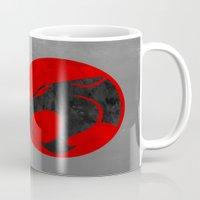 thundercats Mugs featuring Thundercats (Super Minimalist series) by Itomi Bhaa