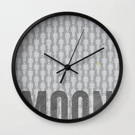 Moon Minimalist Poster Wall Clock