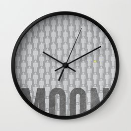 Moon Minimalist Poster Wall Clock