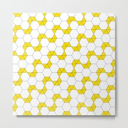 Geometric Pattern #47 (yellow hexagon) Metal Print