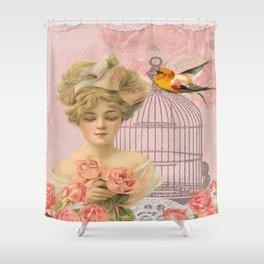 Vintage Victorian Beauty Shower Curtain