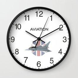 British Eurofighter Typhoon Jet Fighter Wall Clock