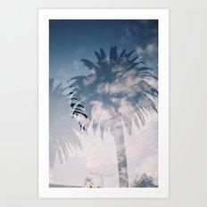 Cloudy Palm Art Print