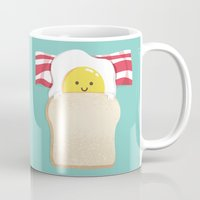 budi Mugs featuring Morning Breakfast by Picomodi