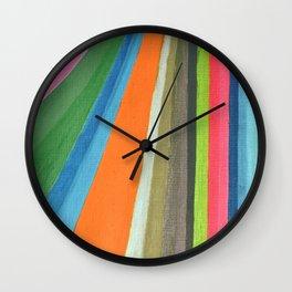 Transforming Vertical Stripes Wall Clock