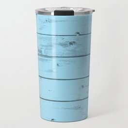 Blue Wood Texture Travel Mug