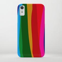 RAINBOW STRIPES Abstract Art iPhone Case