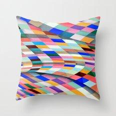 Colourful Twist Throw Pillow