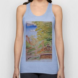 Reading Outside the Village Unisex Tank Top
