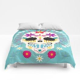 Dios De Los Muertos Day of the Dead Sugar Skull Fiesta Comforters