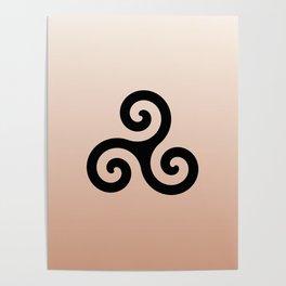 Triskele 7 -triskelion,triquètre,triscèle,spiral,celtic,Trisquelión,rotational Poster