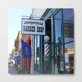 Jacksonville Barber Shop Metal Print