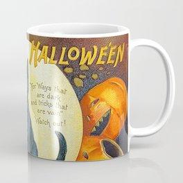 Merry Halloween Black Cat Coffee Mug