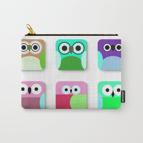 Cute Owl Pattern #2 Carry-All Pouch