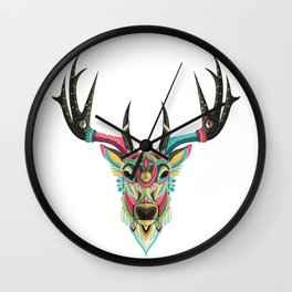 Color Deer Wall Clock