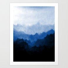 Mists - Blue Art Print