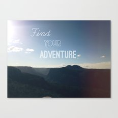 Find your Adventure Canvas Print
