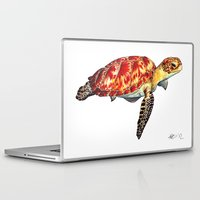 turtle Laptop & iPad Skins featuring Turtle by Alexander Cox