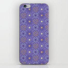 Flower Bloom Petals Vector Pattern iPhone Skin