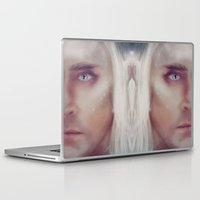 thranduil Laptop & iPad Skins featuring Thranduil - snow by LindaMarieAnson