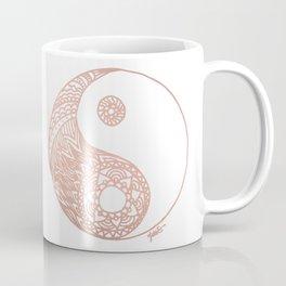 Rose Gold Yin Yang Coffee Mug