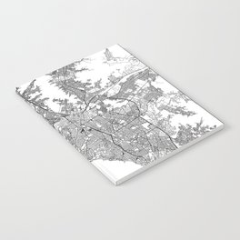 Lima White Map Notebook