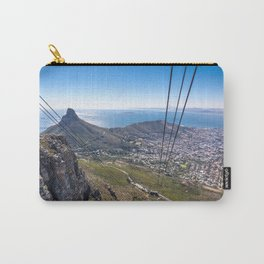 Cable car going up Table Mountain in Cape Town, South Africa Carry-All Pouch
