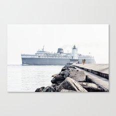 Badger Car Ferry - Ludington Michigan Canvas Print