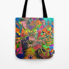 Four new Colours of the Rainbow [Acrylic and Digital Abstract] Tote Bag
