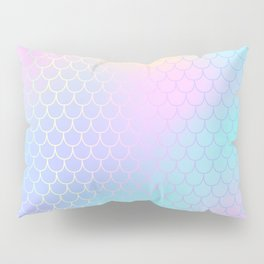 Rainbow Mermaid Abstraction Pillow Sham